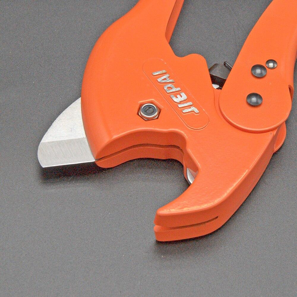 QHTITEC PVC Pipe Cutter Tubing Scissors 35mm 45mm PVC/PU/PP/PE Hosepipe Hose Ratchet Scissors for Cutting Hand Plumbing Tools