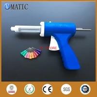 free shipping 30ccml manual epoxy adhesive caulking gun with syringe needles
