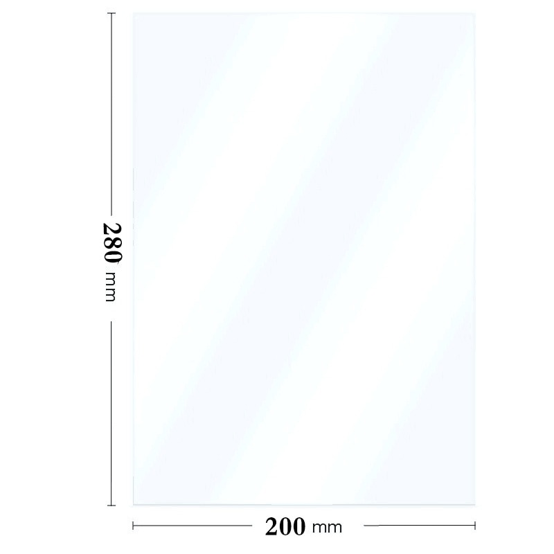 280*200 مللي متر الفوتون أحادية x Fep فيلم Wanhao الأشعة فوق البنفسجية ضوء Fep فيلم ورقة ل Dlp Sla الناسخ D8 الفوتون Anycubic Ld-003 8.9 بوصة Lcd