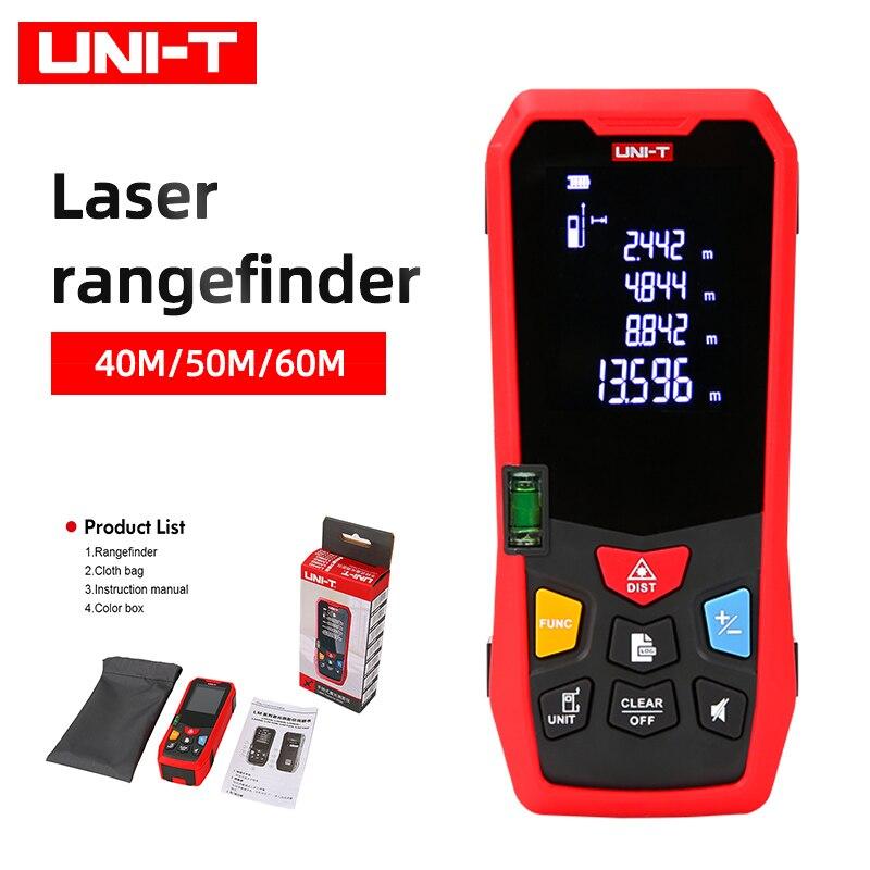 UNI-T ليزر rangefinder 40 متر 50 متر 60 متر LM سلسلة الليزر الرقمي rangefinder يبني قياس حاكم الإلكترونية