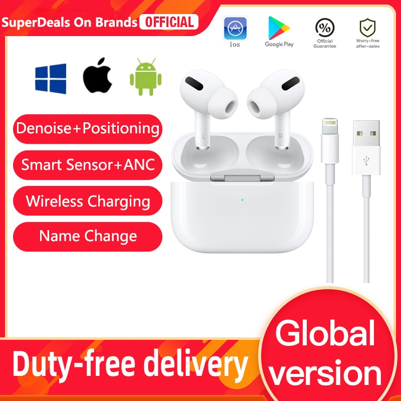 2021 Original Wireless headset for ios android windows headphones Denoise+Positioning+Wireless charg