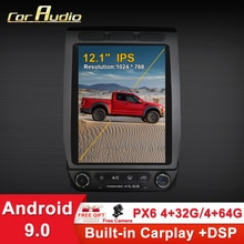 Android 9 12,1 zoll PX6 Tesla stil Auto GPS Navigation Für Ford Raptor F150 2015- Auto Radio Stereo Multimedia player Kopf Einheit