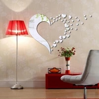 45pcs home stereo wall stickers mirror wall stickers removable home decoration combination love stickers