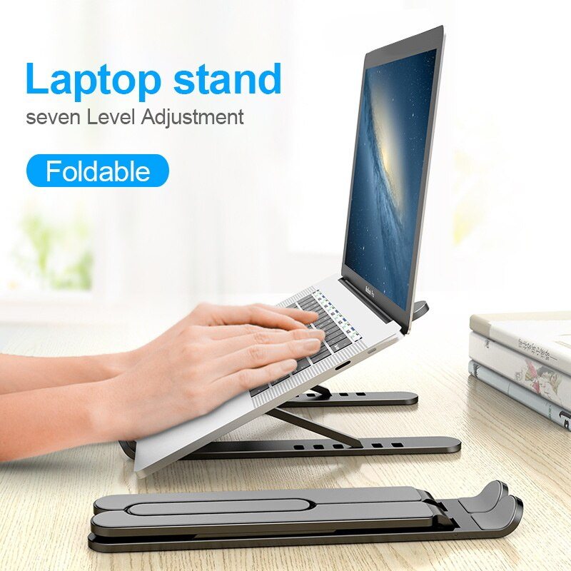 Foldable Laptop Stand Non-slip Desktop Laptop Holder Notebook Stand For Macbook Pro Lapdesk PC Computer Laptop Cooling Pad Riser