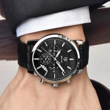 Reloj Hombre BENYAR 43mm Fashion Chronograph Sport Mens Watches Top Brand Luxury Military Quartz Watch Clock Relogio Masculino
