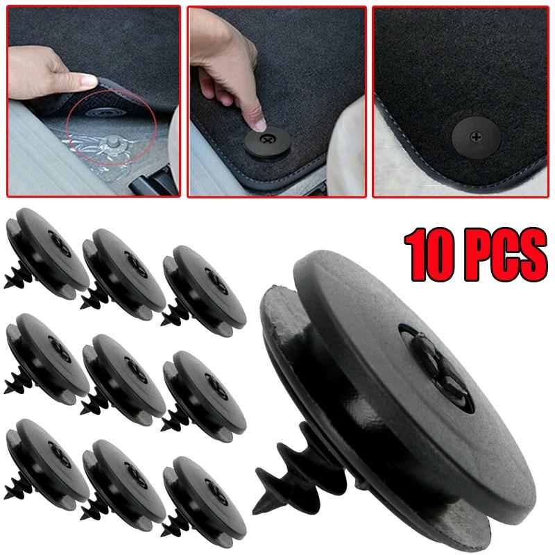 10 Pcs Auto Fastener Floor Mat Buckle Antiskid Pad Fastener Car Fastener Clips Skid Resistant Carpet Fixed Clamp Car Accessories