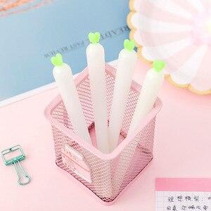 16 Pcs Sunlight Color Radish Gel Pen Student Exam Black Office Supplies Sign Pen Wholesale Kawaii School Supplies