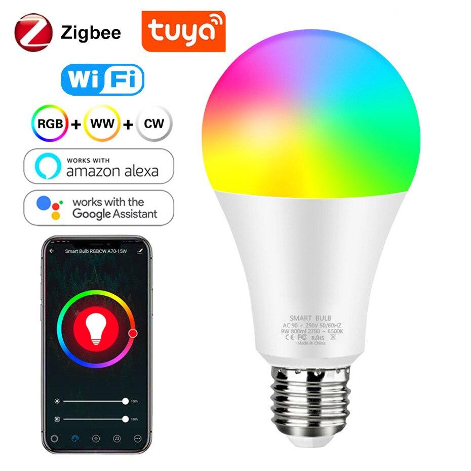 Zigbee Smart bombilla tuya Wifi bombilla LED Bulbs Tubes for Home Light Bluetooth Lamp  Compatible Alexa de Google