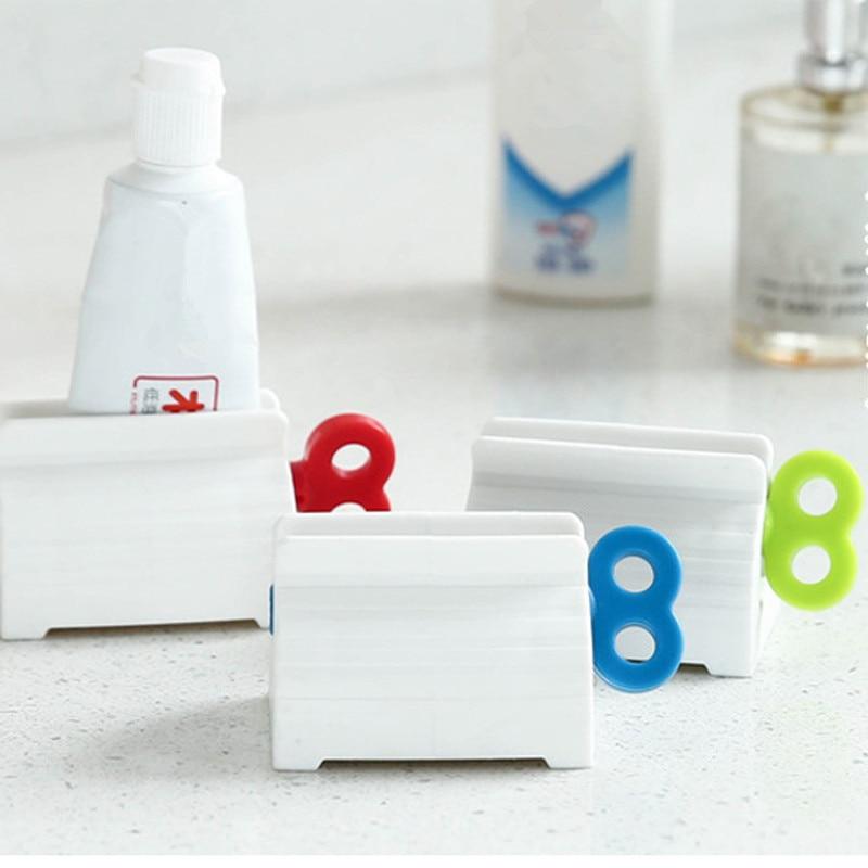 Práctico tubo rodante de pasta de dientes, exprimidor de pasta de dientes, soporte de soporte, exprimidor multifunción, exprimidores de pasta de dientes