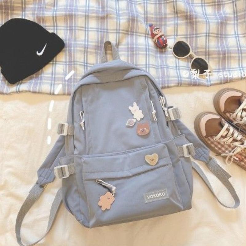 Рюкзаки 2021 милые женские школьные ранцы для студентов, рюкзаки для путешествий, рюкзаки для отдыха, милые синие сумки для девочек