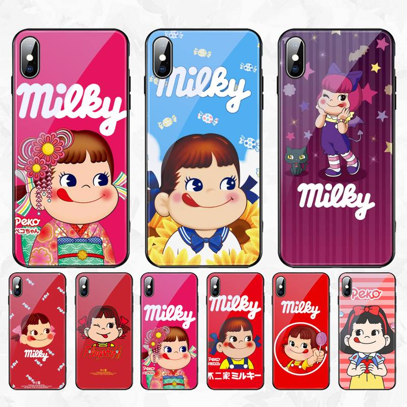 Carcasa de teléfono caricatura candy sister fujiya, cristal templado para iPhone 11 Pro XR XS MAX 8X7 6S 6 Plus SE 2020
