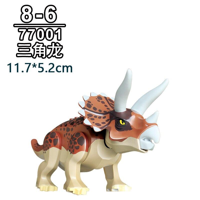Bloques Jurásico dinosaurios Tyrannosaurus Rex Wyvern Velociraptor Estegosaurio Kits de construcción de juguetes para los niños de dinosaurio