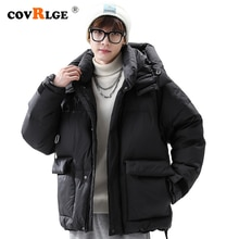 Covrlge Men's Brand Winter New Style Stand-up Collar Basic Down Jacket Solid Color Warm Thickened Do