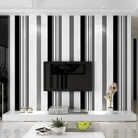 black and white stripes non adhesive wallpaper peel and stick waterproof wall mural for living room clothing store decor
