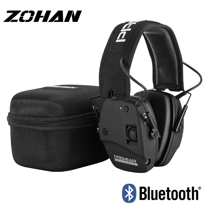 ZOHAN Electronic Shooting Ear Protection Bluetooth Earmuffs Noise Reduction Sound Amplification Hearing Protector for Gun Range zohan noise cancelling hunting hearing protection safety earmuffs ear defenders adjustable shooting ear protection protector