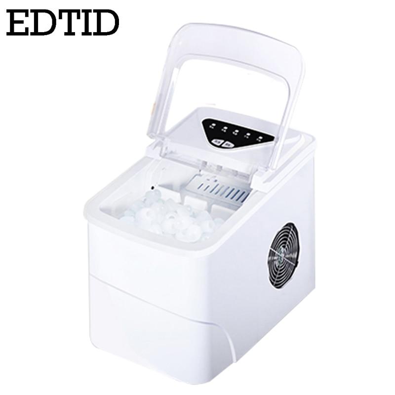 المحمولة التلقائي الكهربائية جهاز تكوين الثلج المنزلية الصغيرة مربع الشكل ماكينة صنع الثلج 20 كجم/24H المنزل الأسرة الصغيرة بار مقهى