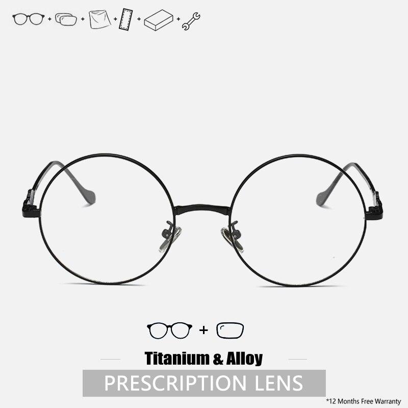 Mens Titanium Prescription Glasses Myopia Progressive Glasses Frame Round Glasses Frames Designer