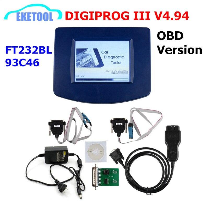 DIGIPROG III V4.94 OBD версия одометра программист Digiprog 3 Пробег корректный Digiprog3 OBD FT232BL & 93C46 DIGIPROG OBD ST01 ST04