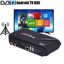 Dvb t2 android tv caixa de tv sintonizador 4 k smart tv caixa dupla modo dvb-t2 receptor conjunto caixa superior cpu amlogic s905 quad core os android 5.1