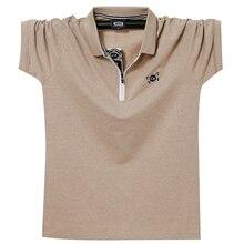 Polo de algodón para hombre, camiseta transpirable con cuello vuelto, estilo bordado, de negocios, 6XL