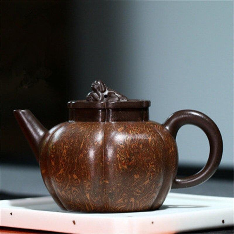 Yixing-إبريق شاي أرجواني عتيق ، صناعة يدوية ، طين Rui Beast أصلي ، Zisha ، الكونغ فو ، طقم شاي ، هدية