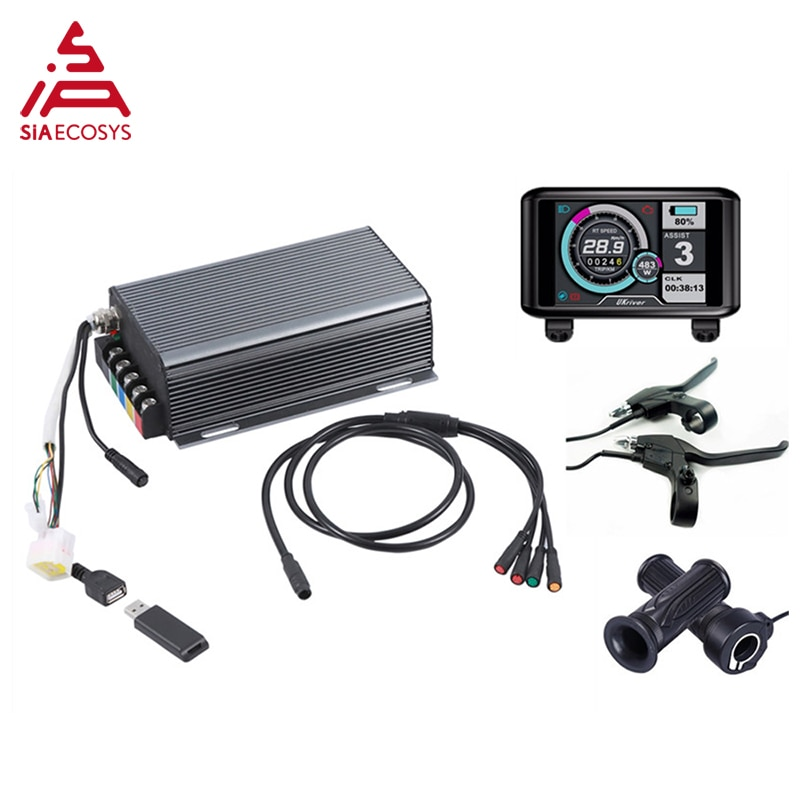 Sabvoton SVMC 72150 UKC TFT version controller svmc series  for 3000w Electric Bicycle Motor, with bluetooth adapter enlarge