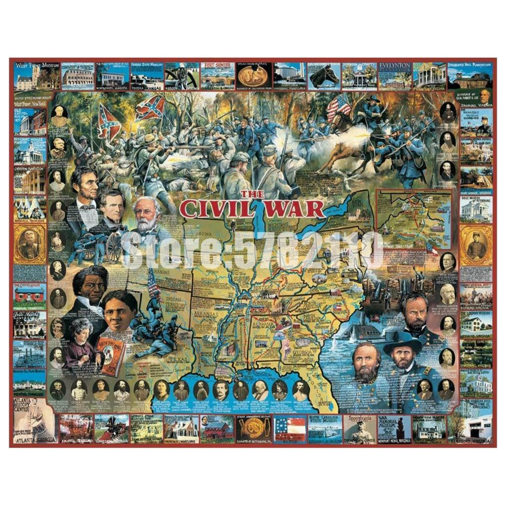 Americana Historia Militar 5D Diy diamante pintura punto de cruz mosaico diamante bordado guerra Civil completo Rhinestone pegatina de pared