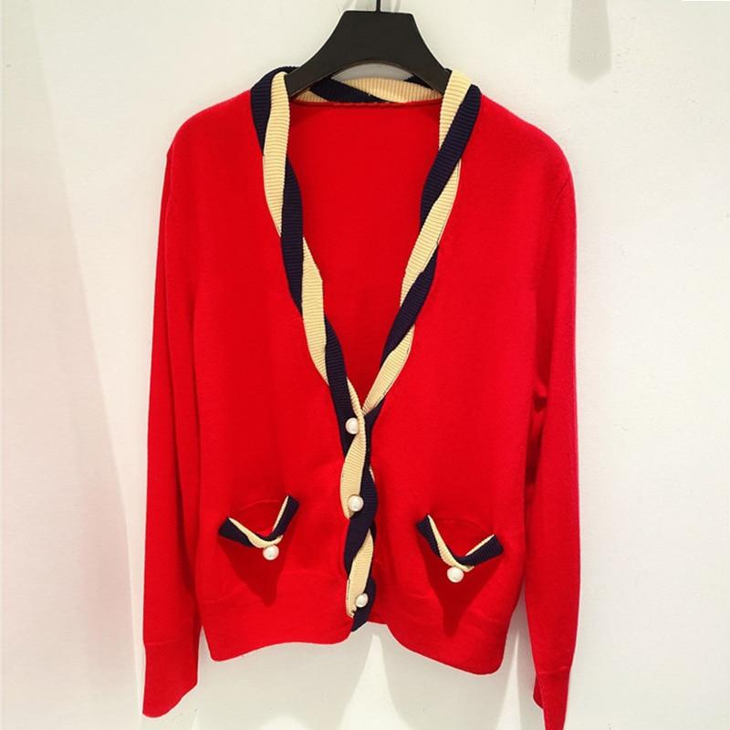 Gezelligheid 2021 Autumn Winter Runway Fashion Elegant Casual V Neck Long Sleeve Luxury Women Sweater Knitting Cardigan Coat Top enlarge