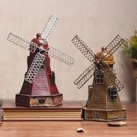 european retro nostalgic dutch windmill decorations pose creative personality living room shop restaurant set up crafts