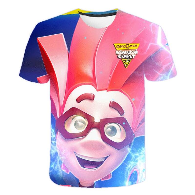¡Novedad de 2020! Ropa para niños, camiseta fija, disfraz para niñas, camisetas de dibujos animados para niños, ropa para bebés, camiseta Casual con estampado 3D