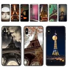 Paris Is A Good Idea Effiel Cute Compatible Black Soft TPU Print Cover Case For Galaxy A5 A6 A7 A8 A