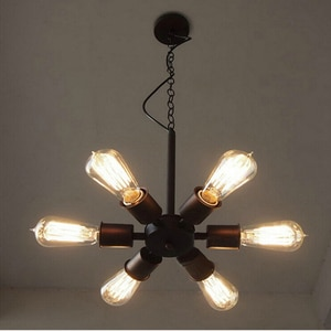Black Ferris wheel chandelier Metal sputnik lamp Edison Bulb Light fixtures American Loft Kitchen Dining room coffee shop light