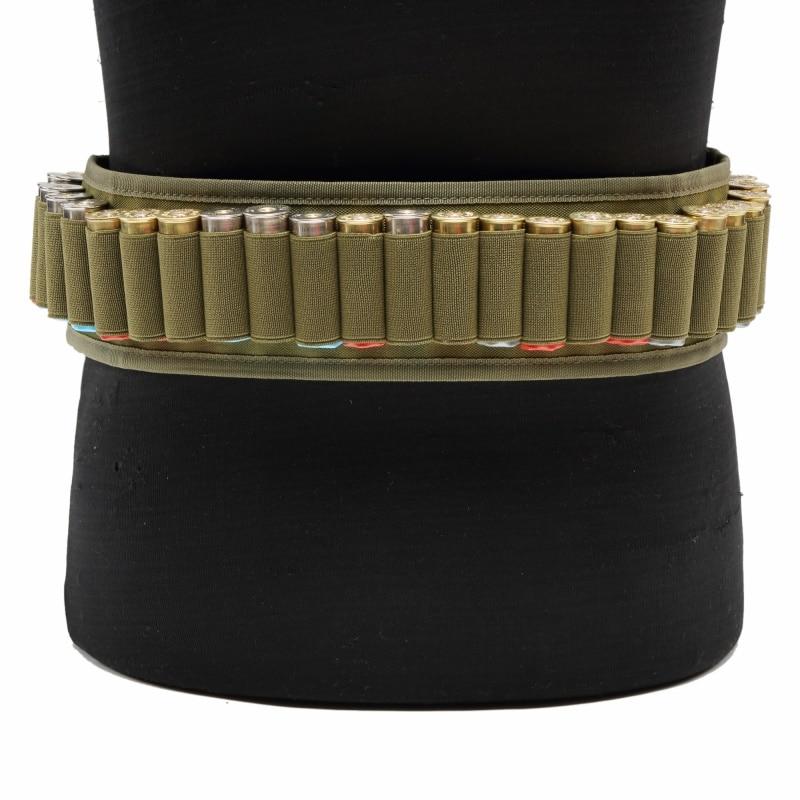 30 Round Tactical Shell Bandolier Belt Military Waist Belt Airsoft Hunting 12/20GA Ammo Holder Pouch Shotgun Cartridge Belts