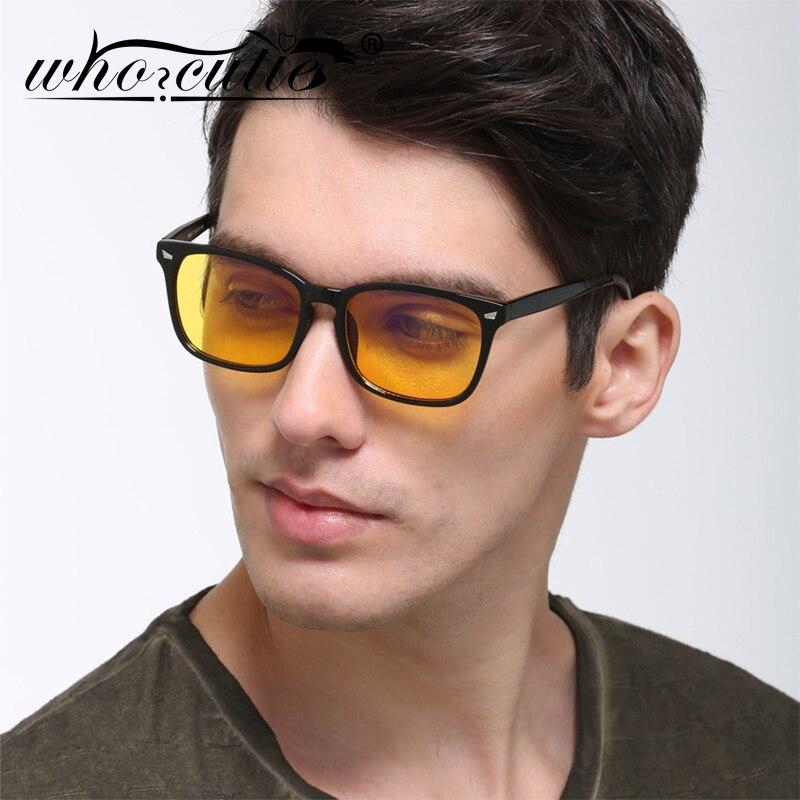 WHO CUTIE 2020 Night Vision Sunglasses Men Women Brand Design Plastic Frame Sun Glasses Female Male