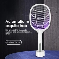 3000v two in one mosquito killer light electric mosquito swatter usb lithium battery base charging fly swatter mosquito swatter