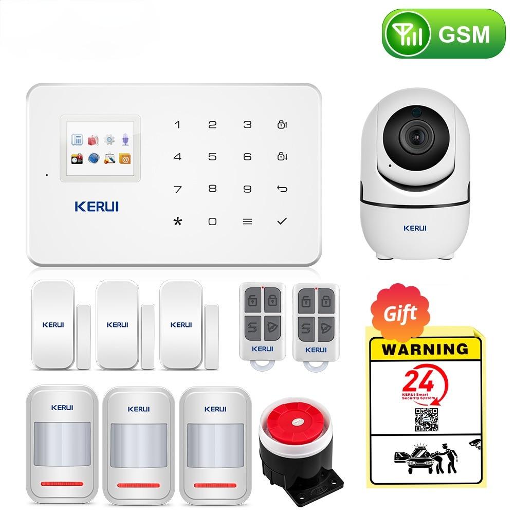 Wireless Smart Home GSM Security Alarm System SMS APP Control House Motion Detector Sensor Burglar Signal Device IP Camere