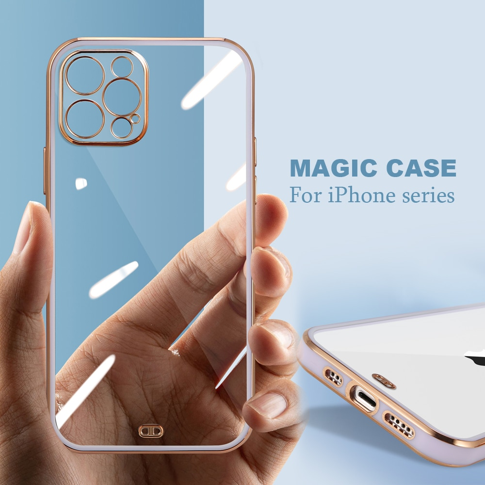 electroplating Silicone Phone case For iphone12 mini 8 7 Plus colored mobile phone bag For iphone XR
