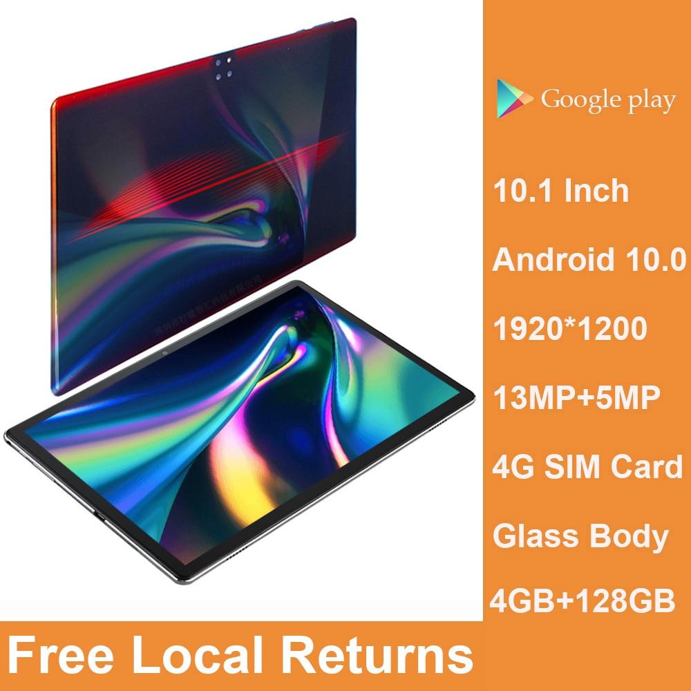 10,1-дюймовый стеклянный планшет на Android 10, Helio P60, 4 Гб ОЗУ 2021 Гб ПЗУ планшет 10 дюймов 4g планшет графичческий Планшет 128 ГБ ROM