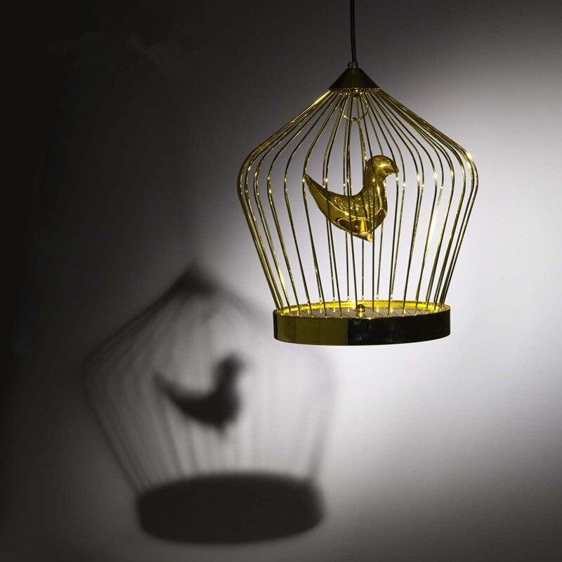 Contemporáneo contratado aureate jaula de pájaros droplight creatividad artística individual sala de estar dormitorio decora droplight