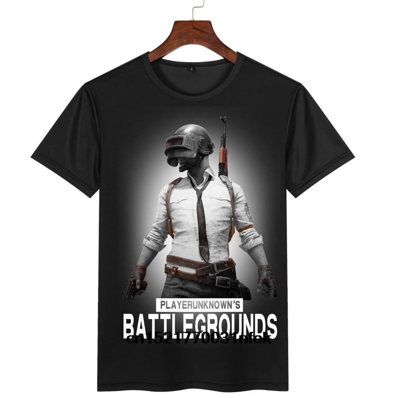 Camiseta de hombre negro vapor PUBG PlayerUnknowns Battlegrounds juego en línea Punk Rock divertida camiseta de cuello redondo camisetas de mujer