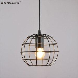 Industrial Wind LED Pendant Lamp Loft Decor Edison Retro Single Head Hanging Lights Dining Room Black Iron Home Lighting