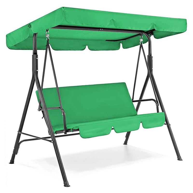 عملي المظلة سوينغ غطاء فوقي وغطاء مقعد أرجوحة ، 3 مقاعد الباحة سوينغ كرسي المظلة غطاء فوقي لحديقة شرفة مقعد أرجوحة