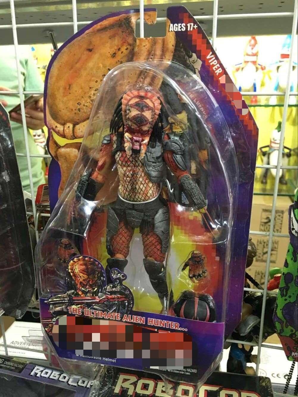 """NECA Alien VS Predator Serie 12 ejecutor el último cazador de extraterrestres de PVC colección de figuras de acción juguetes modelo de 7 """"18 cm KT3635"""