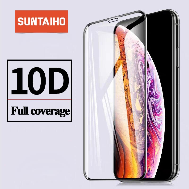 10D Gehärtetem Glas Für iphone X XS 11Pro Max XR Glas auf Für iphone 7 8 Plus X XS Max SE 2020 glas