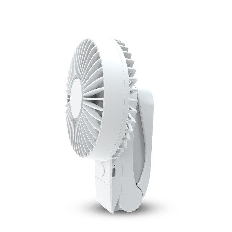 Mini ventilador Usb de refrigeración portátil de 4000Mah, ventilador de aire redonda y 360 grados de 4 velocidades de rotación, ventilador de carga de escritorio con Clip Usb