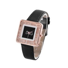 orologi 2021 DqG Fashion Black Watches Women Stainless Steel Bracelet Bangle Luxury Rectangle Quartz