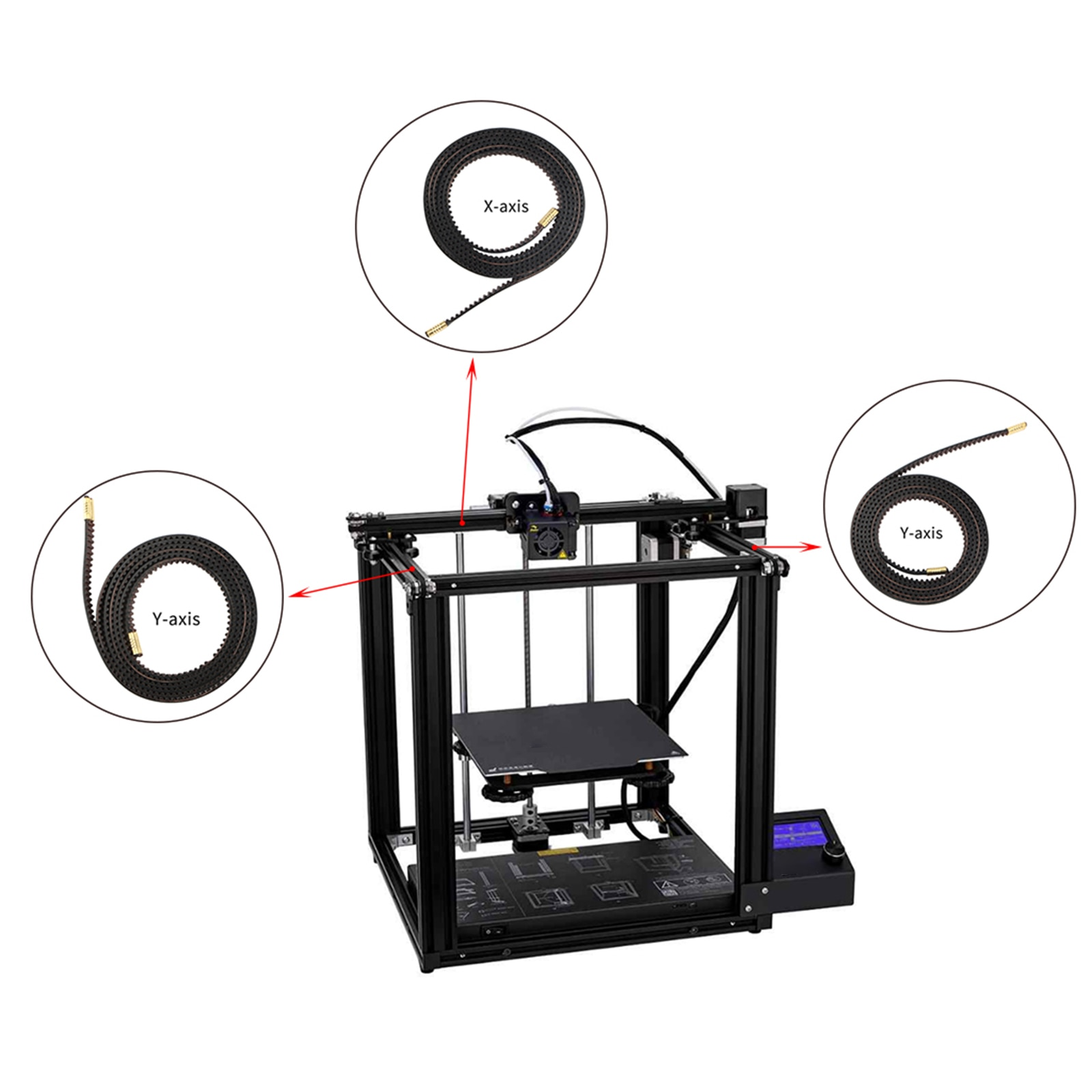 طباعة ثلاثية الأبعاد 2GT مؤقت اشتعال مفتوح مؤقت اشتعال 6 مللي متر العرض X محور + Y محور يصلح للطابعات أندر 5 / 5pro ثلاثية الأبعاد 1 حزمة