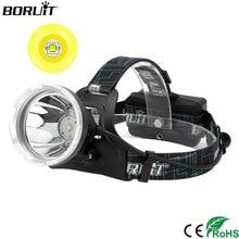 BORUIT Super lumineux B10 XM-L2 phare LED Micro USB Charge 18650 batterie phare 4-Mode tête torche Camping chasse lampe de poche