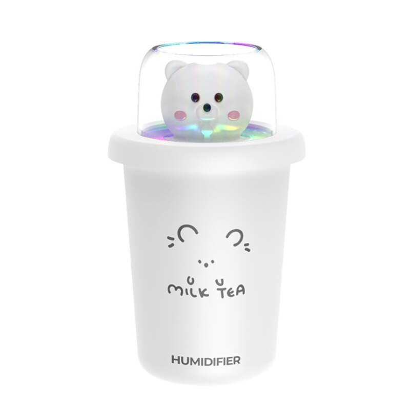 350ML USB Rechargeable Electric Humidifier For Home Aroma Diffuser  Car Humidifiers With Colorful Night Light