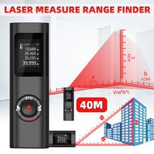 Mini télémètre Laser Rechargeable USB de haute précision règle électronique infrarouge 40m/131ft télémètre Laser